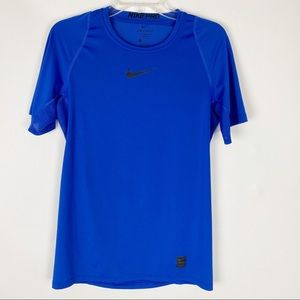NIKE Pro Dri-Fit Royal Blue Fitted SS Tee